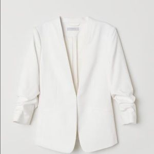 HM white blazer